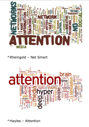 Student project comparing the main words in two articles design